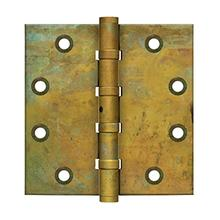 "4-1/2"" x 4-1/2"" Square Hinges, Ball Bearings - Rust"