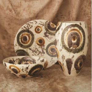 Earthtone Spots Bowl