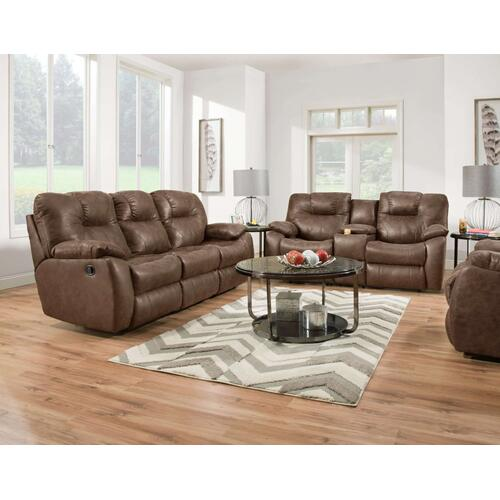 Double Reclining Sofa with Dropdown Table