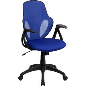 Mid-Back Executive Blue Mesh Chair with Nylon Base