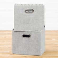 Fabric Storage Baskets, 2-Pack - Mouse Gray