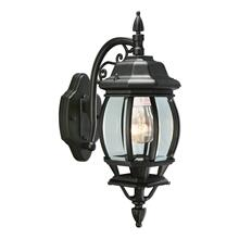 Canterbury Black Outdoor Die-Cast Wall Lantern Sconce #505545