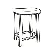 See Details - Leather Bar Stool