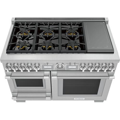 Dual Fuel Professional Range 48'' Pro Grand® Commercial Depth PRD48WISGU