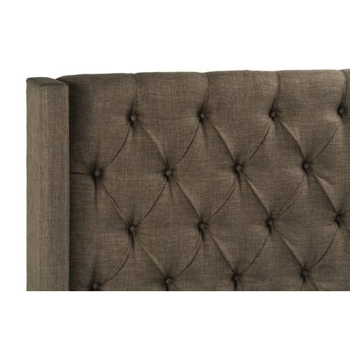 Westerly Queen Bed Upholstered Headboard, Brown