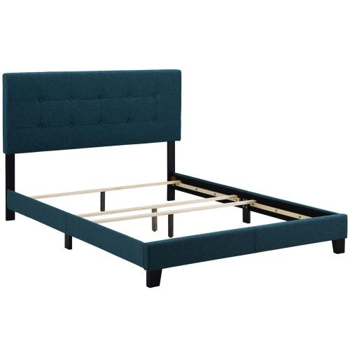 Modway - Amira Queen Upholstered Fabric Bed in Azure