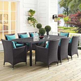 "Convene 82"" Outdoor Patio Dining Table in Espresso"