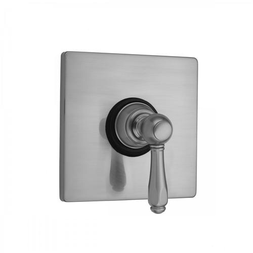 Matte Black - Square Plate with Smooth Lever Trim for Pressure Balance Cycling Valve (J-CSV)