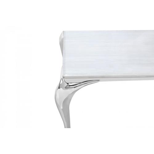 Modrest Vince - Modern Faux Marble & Stainless Steel Dining Table