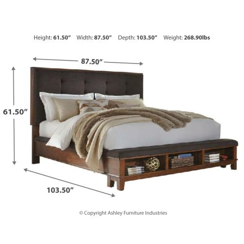 Signature Design By Ashley - Ralene California King Upholstered Panel Bed