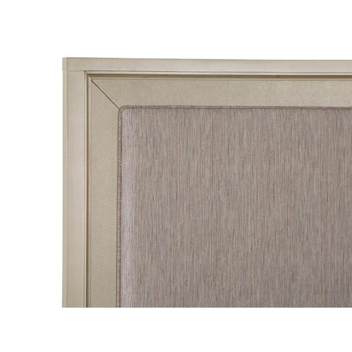 Complete Queen Panel Storage Bed w/Upholstered Headboard