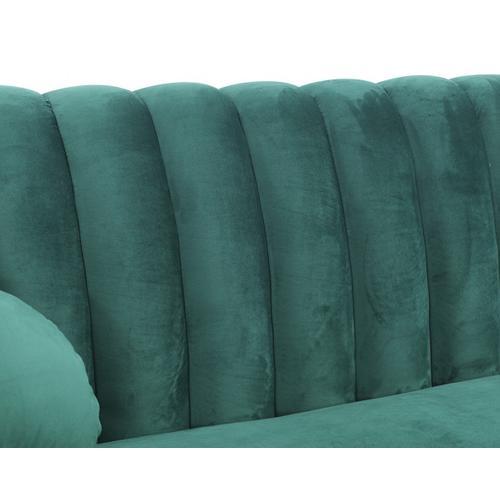 Divani Casa Arvada Modern Green Velvet & Gold Sofa