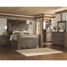 California King Poster Bed With Mirrored Dresser