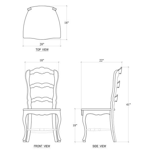 Provincial Dining Chair w/ Wood Seat