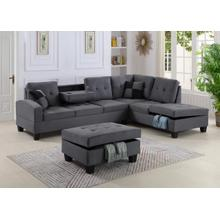 See Details - GREY OTTOMAN