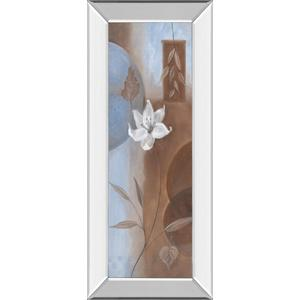 """White Flower Il"" Mirror Framed Print Wall Art"