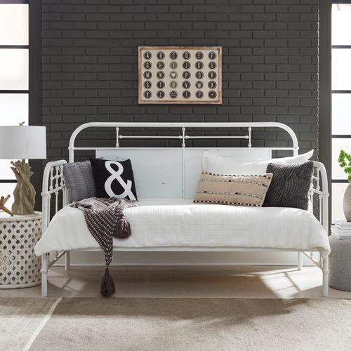 Gallery - Twin Metal Day Bed - Antique White