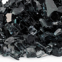 "See Details - 1/2"" Black Reflective, 10 Lb. Jar Fire Glass"