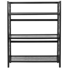 See Details - Natalie 3 Tier Low Bookcase - Black