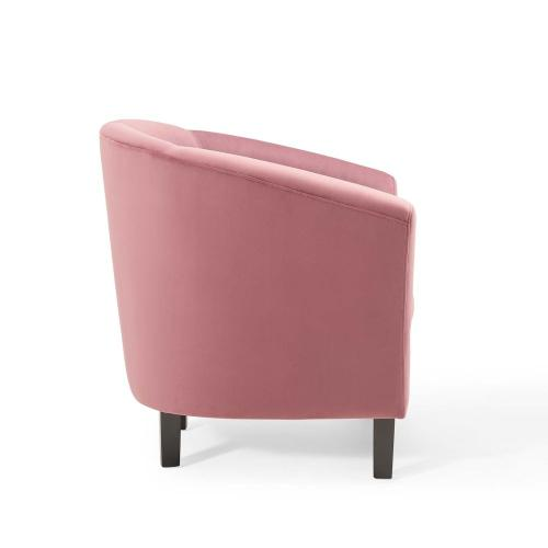 Prospect Performance Velvet Armchair in Dusty Rose