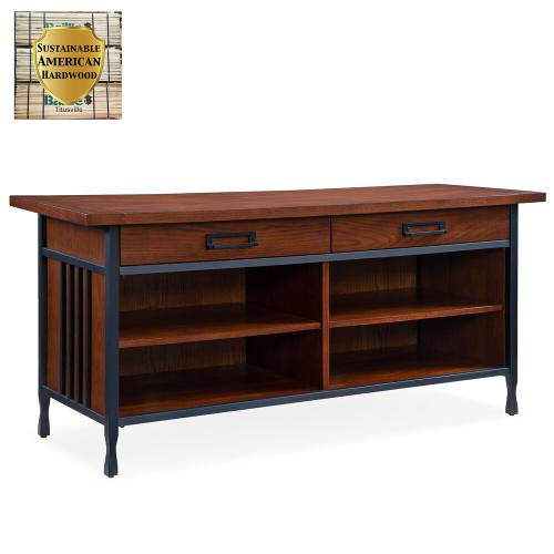 """Ironcraft Metal and Wood 54""""W TV Console #11260"""