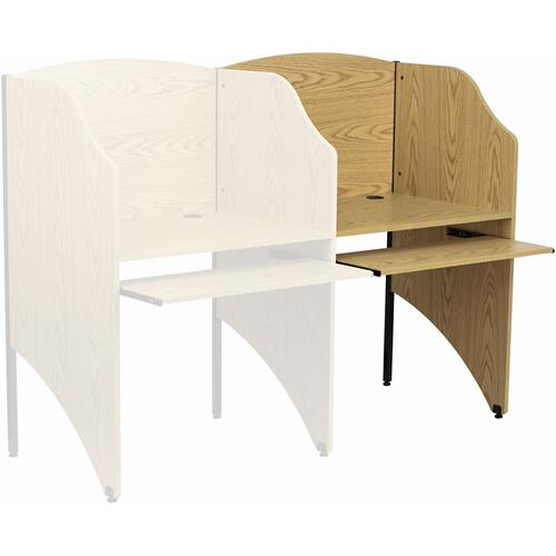 Flash Furniture - Add-On Study Carrel in Oak Finish