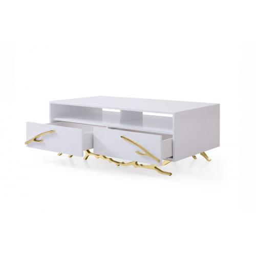 Modrest Legend - Modern White & Gold Coffee Table