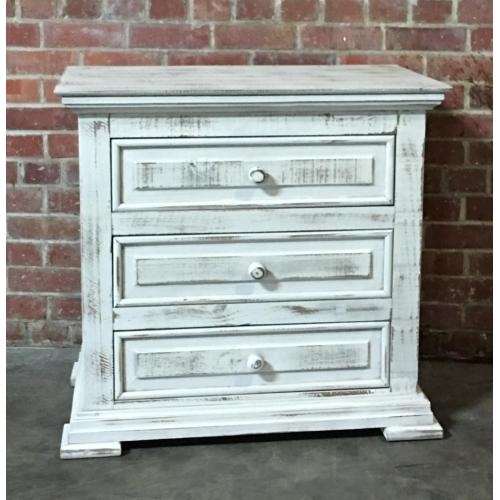 MIC3701NTST  Chalet Nightstand 3 Drawer - ASPEN GRAY (Shown in White)
