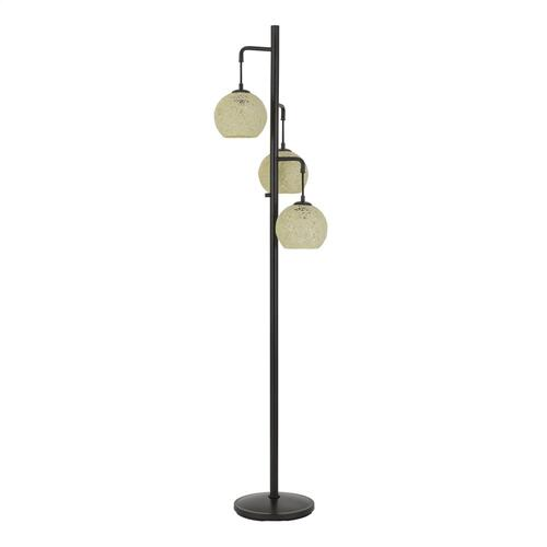 Sardis Metal Floor Lamp With Round Roped Shade