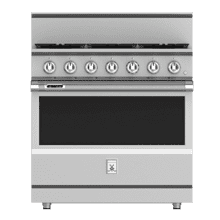 "36"" 5-Burner Dual Fuel Range - KRD Series - Steeletto"