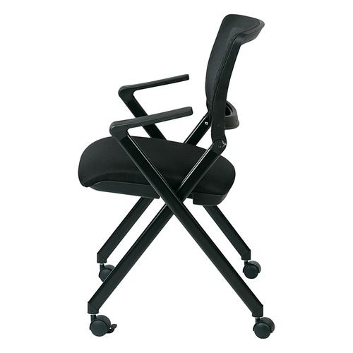 Office Star - Folding Chair With Breathable Mesh Back
