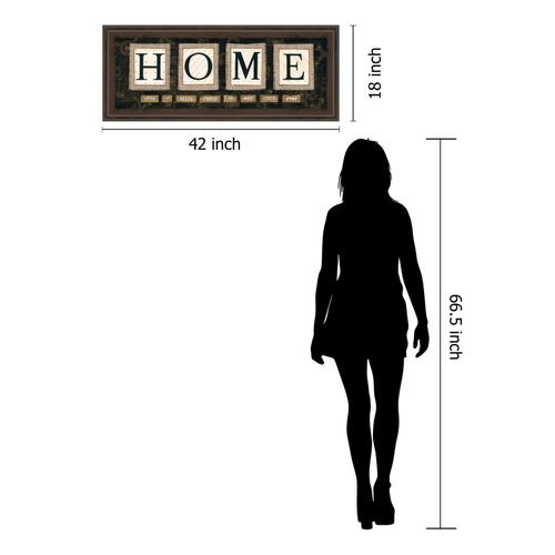 """""""Home"""" By Anne Lapoint Mirrored Framed Print Wall Art"""