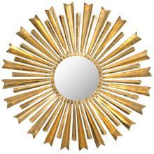 See Details - Golden Arrows Sunburst Mirror - Antique Gold