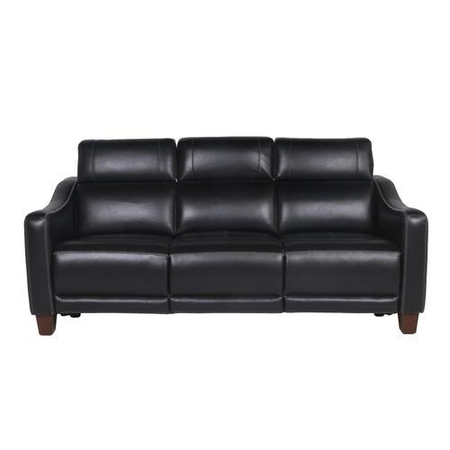 Giorno Dual-Power Leather Sofa, Midnight