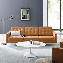 See Details - Loft Leather Sofa in Tan