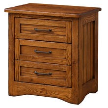 View Product - Amish Made Farmstead 3-Drawer Nightstand