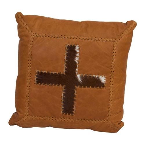 Leather Pillow W/Cross DISCONTINUED