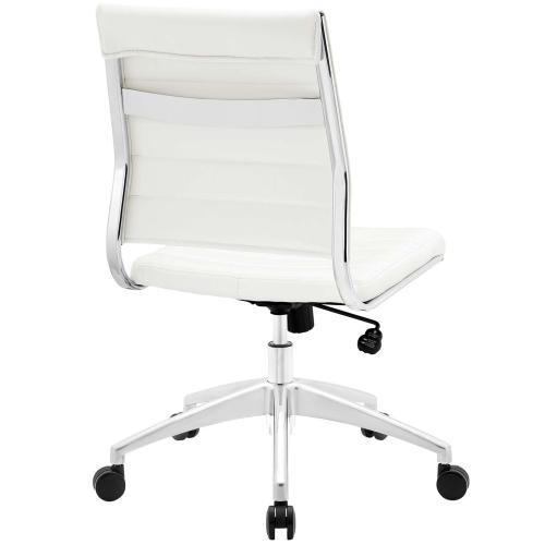 Jive Armless Mid Back Office Chair in White