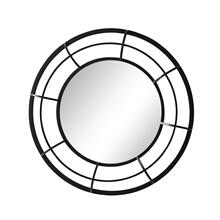 "See Details - Metal Frame 28"" Wall Mirror , Black - Wb"