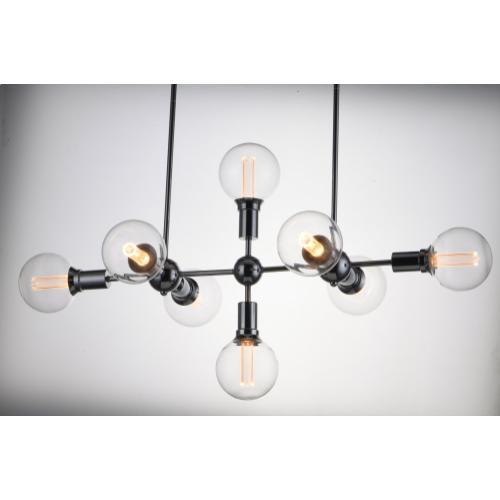 Molecule 8-Light Pendant with G40 CL LED Bulbs