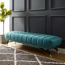 Adept Performance Velvet Bench in Sea Blue
