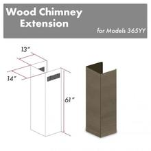 """See Details - ZLINE 61"""" Wooden Chimney Extension For Ceilings Up To 12.5 Ft. (365YY-E)"""