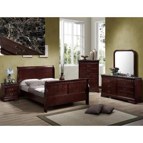 Crown Mark - 5-Piece Louis Philip Bedroom Set