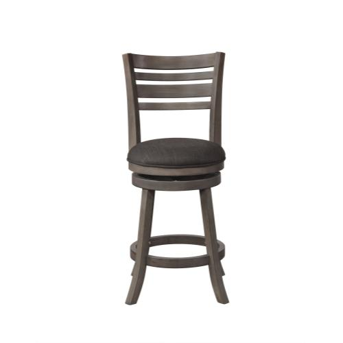 Upholstered Seat and 360 Degree Swivel Counter Stool, Grey