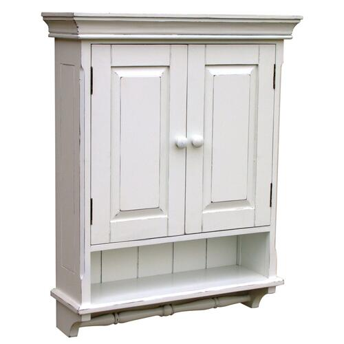 Trade Winds - Provincial Mirrored Cabinet - Wht