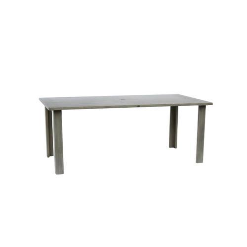 "Limo 84"" x 42"" Rectangular Dining Table w/Umbrella Hole"