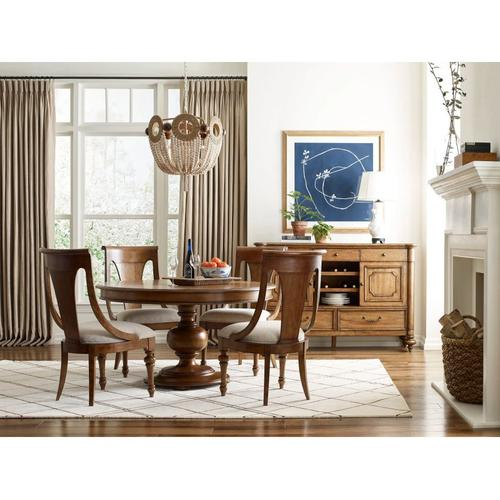 American Drew - Hillcrest Round Dining Table Complete