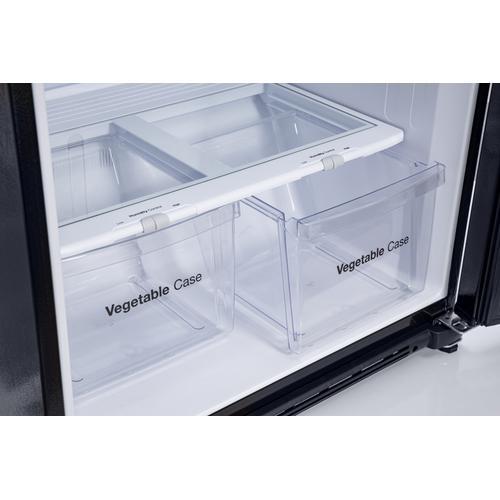 WINIA 18.2 Cu Ft - Garage Ready - 2 Door Top Freezer Refrigerator- Black