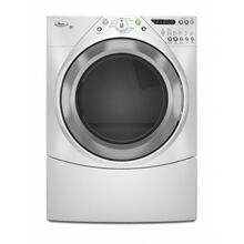Silver Metallic-on-White Whirlpool® Duet® 7.2 cu. ft. Dryer
