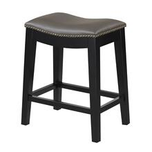 "Briar 24"" Bar Stool, Elephant Gray D107-24-13"
